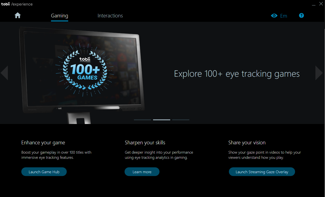 What is the Tobii Experience app? – Tobii Eye Tracking Support